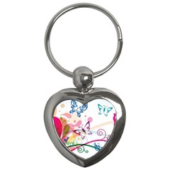 Butterfly Vector Art Key Chains (heart)