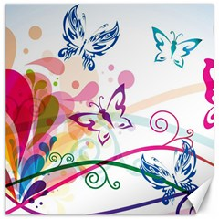 Butterfly Vector Art Canvas 16  X 16