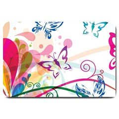 Butterfly Vector Art Large Doormat