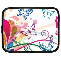 Butterfly Vector Art Netbook Case (large)