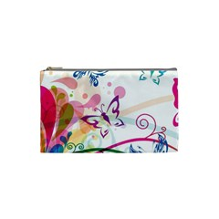Butterfly Vector Art Cosmetic Bag (small)