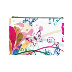 Butterfly Vector Art Cosmetic Bag (large)