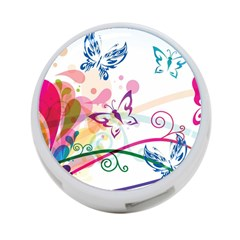 Butterfly Vector Art 4 Port Usb Hub (two Sides)