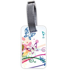 Butterfly Vector Art Luggage Tags (one Side)