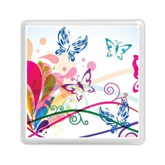 Butterfly Vector Art Memory Card Reader (square)