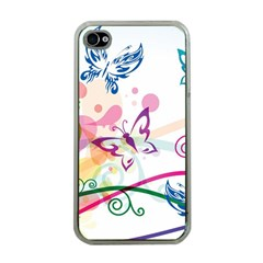 Butterfly Vector Art Apple Iphone 4 Case (clear)