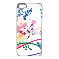 Butterfly Vector Art Apple Iphone 5 Case (silver)