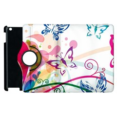 Butterfly Vector Art Apple Ipad 3/4 Flip 360 Case