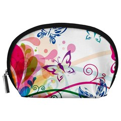Butterfly Vector Art Accessory Pouches (large)