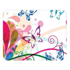 Butterfly Vector Art Double Sided Flano Blanket (large)