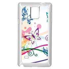 Butterfly Vector Art Samsung Galaxy Note 4 Case (white)