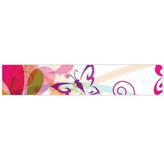Butterfly Vector Art Flano Scarf (large)