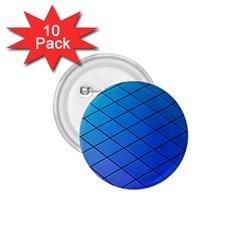 Blue Pattern Plain Cartoon 1 75  Buttons (10 Pack)