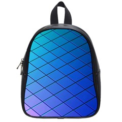 Blue Pattern Plain Cartoon School Bags (small)