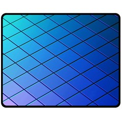 Blue Pattern Plain Cartoon Fleece Blanket (medium)