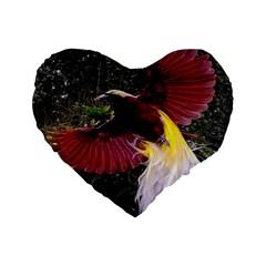 Cendrawasih Beautiful Bird Of Paradise Standard 16  Premium Heart Shape Cushions