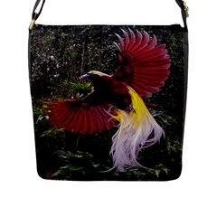 Cendrawasih Beautiful Bird Of Paradise Flap Messenger Bag (l)