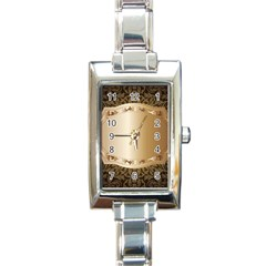 Floral 3 Rectangle Italian Charm Watch