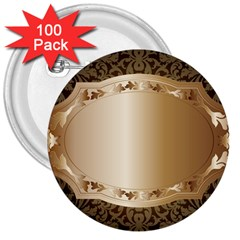 Floral 3 3  Buttons (100 Pack)