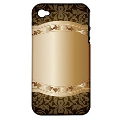 Floral 3 Apple Iphone 4/4s Hardshell Case (pc+silicone)