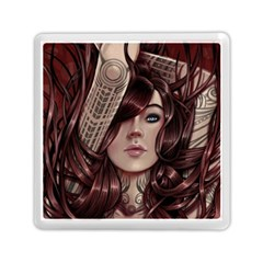 Beautiful Women Fantasy Art Memory Card Reader (square)