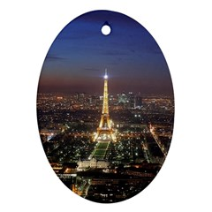 Paris At Night Ornament (oval)