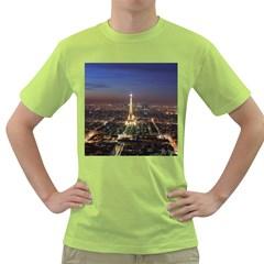 Paris At Night Green T Shirt