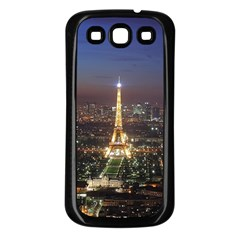 Paris At Night Samsung Galaxy S3 Back Case (black)