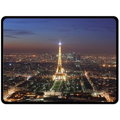 Paris At Night Double Sided Fleece Blanket (large)