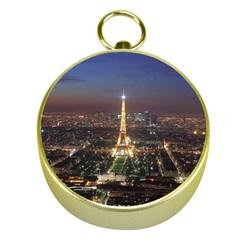 Paris At Night Gold Compasses