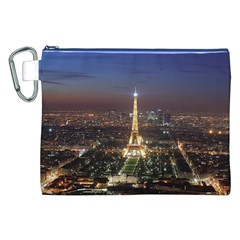 Paris At Night Canvas Cosmetic Bag (xxl)