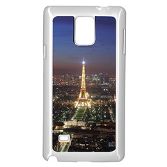 Paris At Night Samsung Galaxy Note 4 Case (white)