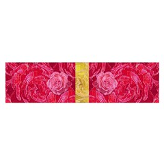 Rose And Roses And Another Rose Satin Scarf (oblong)