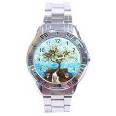 Single Tree Stainless Steel Analogue Watch