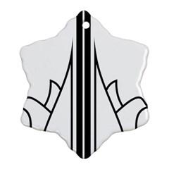 Logo Of Karaj Snowflake Ornament (two Sides)