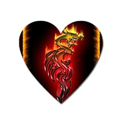 Dragon Fire Heart Magnet