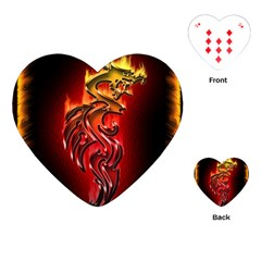 Dragon Fire Playing Cards (heart)