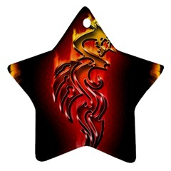 Dragon Fire Star Ornament (two Sides)