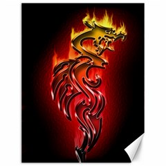 Dragon Fire Canvas 12  X 16