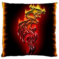 Dragon Fire Large Cushion Case (one Side)