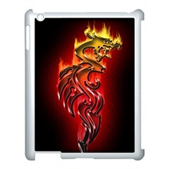 Dragon Fire Apple Ipad 3/4 Case (white)