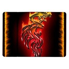 Dragon Fire Samsung Galaxy Tab 10 1  P7500 Flip Case
