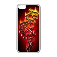 Dragon Fire Apple Iphone 5c Seamless Case (white)
