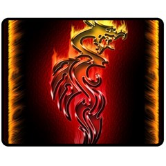 Dragon Fire Double Sided Fleece Blanket (medium)