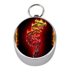Dragon Fire Mini Silver Compasses