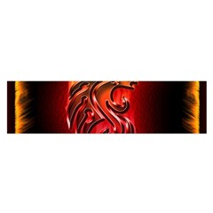 Dragon Fire Satin Scarf (oblong)