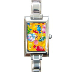 Sweets And Sugar Candies Vector  Rectangle Italian Charm Watch
