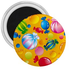 Sweets And Sugar Candies Vector  3  Magnets