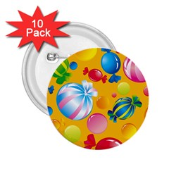 Sweets And Sugar Candies Vector  2 25  Buttons (10 Pack)