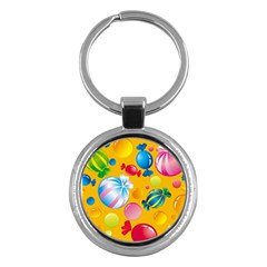 Sweets And Sugar Candies Vector  Key Chains (round)